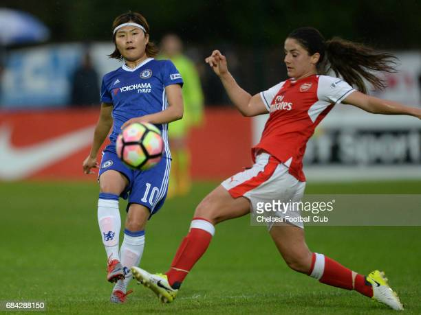 Ji So Yun of Chelsea during a WSL 1 match between Chelsea Ladies FC and Arsenal Ladies FC on May 17 2017 in Staines England