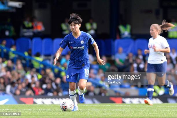 Ji So Yun of Chelsea Women in action during the Barclays Womens Super League match between Chelsea Women and of Tottenham Hotspur Women at Stamford...
