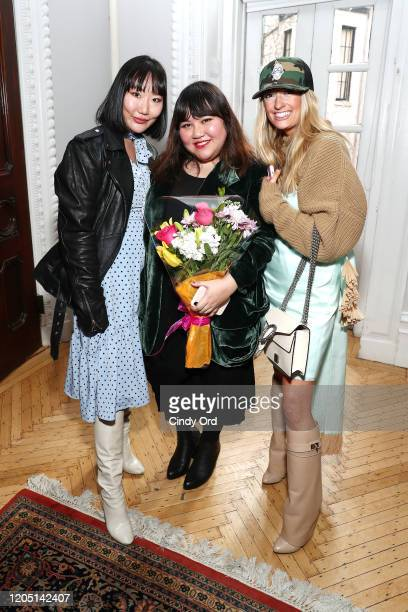 Ji Won Choi Jasmine Chong and Martha Gottwald attend the Jasmine Chong runway show during New York Fashion Week on February 09 2020 in New York City