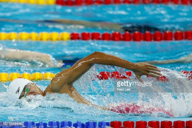 Ji Xinjie of China competes during the Men's 400m Freestyle of the 14th FINA World Swimming Championships at Hangzhou Olympic Sports Expo on day one...