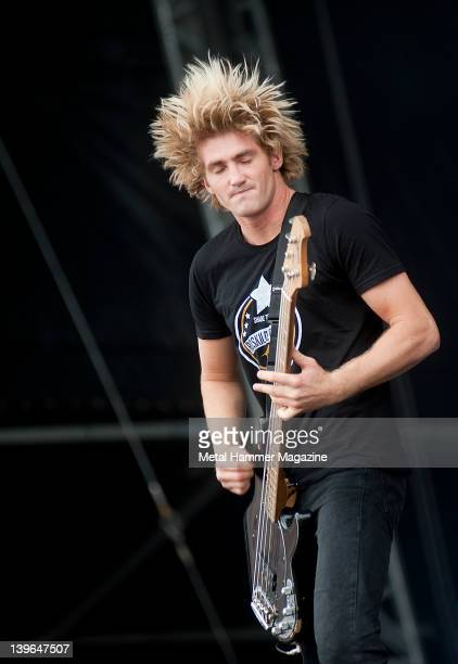 Jia O'Connor of Parkway Drive performs live on stage at Sonisphere Festival on July 10 2011