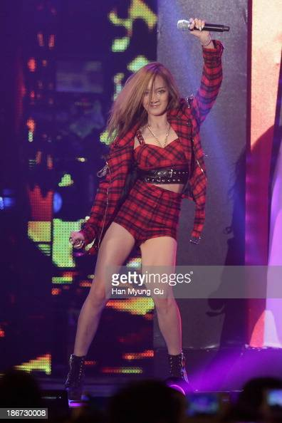 Jia of girl group Miss A performs on stage during the