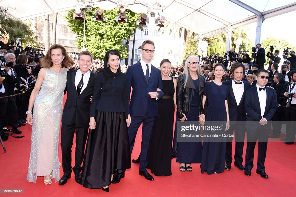 Jia Zhangke, Gael Garcia Bernal, Sofia Coppola, Jane Campion, Jeon Do-yeon, Nicolas Winding Refn, Leila Hatami, Carole Bouquet and Willem Dafoe at the Closing ceremony and 'A Fistful of Dollars' screening during 67th Cannes Film Festival