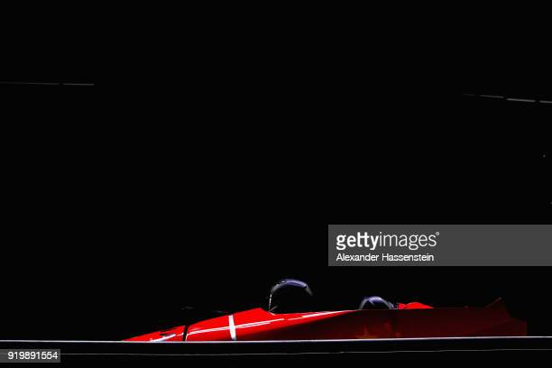 Jian Jin and Hao Shi of China slide during twoman Bobsleigh heats on day nine of the PyeongChang 2018 Winter Olympic Games at Olympic Sliding Centre...
