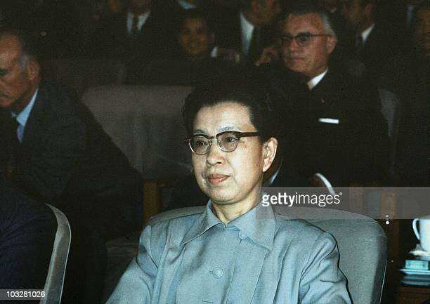 Jiang Qing Mao's third wife listens in 1973 during a meeting in Beijing Mao launched in 1966 the Great Proletarian Cultural Revolution directed...