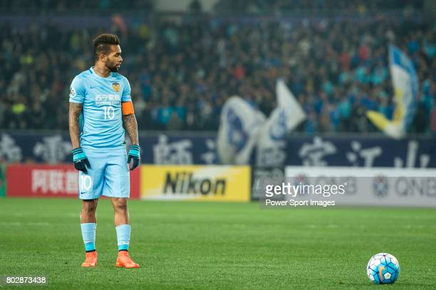 Jiangsu FC Forward Alex Teixeira in action during the AFC Champions League 2017 Group H match between Jiangsu FC vs Adelaide United at the Nanjing...