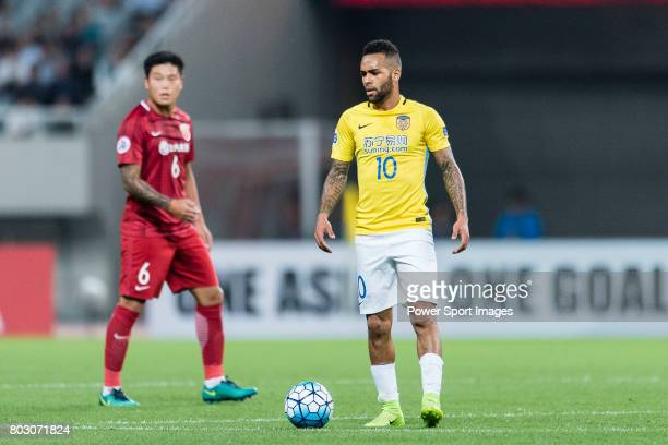 Jiangsu FC Forward Alex Teixeira in action during the AFC Champions League 2017 Round of 16 match between Shanghai SIPG FC vs Jiangsu FC at the...