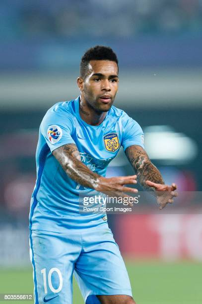 Jiangsu FC Forward Alex Teixeira in action during the AFC Champions League 2017 Round of 16 match between Jiangsu FC vs Shanghai SIPG FC at the...