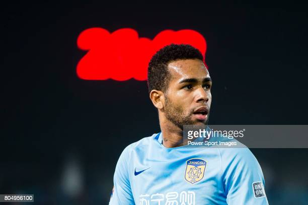 Jiangsu FC Forward Alex Teixeira in action during the AFC Champions League 2017 Group H match between Jiangsu FC vs Jeju United FC at the Nanjing...