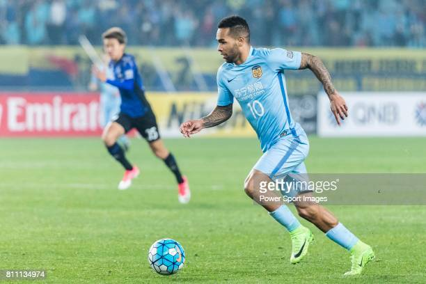Jiangsu FC Forward Alex Teixeira in action during the AFC Champions League 2017 Group H match between Jiangsu FC vs vs Gamba Osaka at the Nanjing...