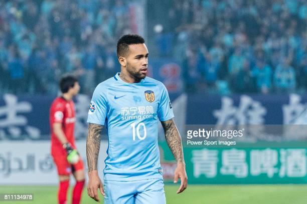 Jiangsu FC Forward Alex Teixeira in action during the AFC Champions League 2017 Group H match between Jiangsu FC vs vs Gamba Osaka at the Nanjing...