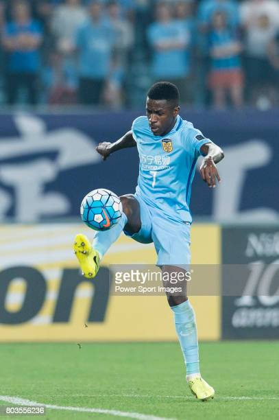 Jiangsu FC Midfielder Ramires Santos in action during the AFC Champions League 2017 Round of 16 match between Jiangsu FC vs Shanghai SIPG FC at the...