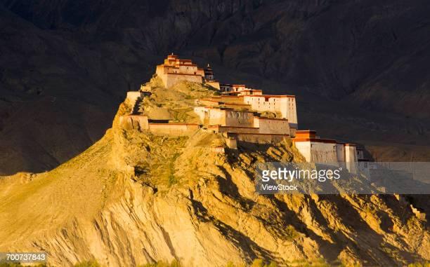 Jiangzi Old Castle of Shigatse Region in Tibet