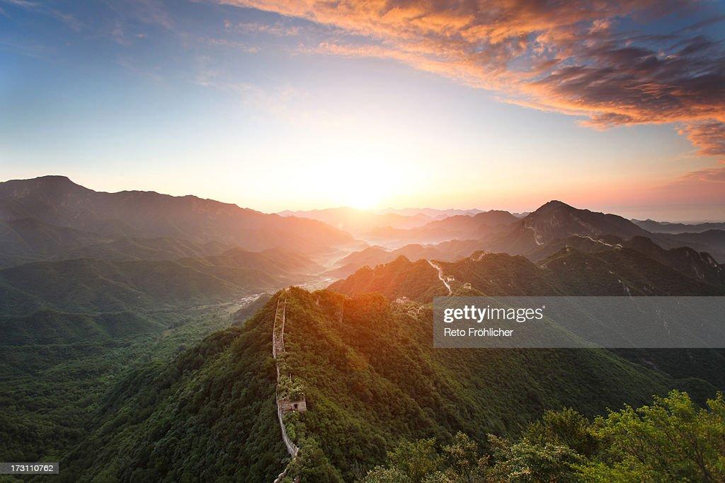 Jiankou Great Wall Sunrise : Stock Photo