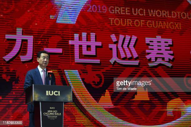 Jianlin Wang of China Wanda Group President / during the 5th UCI Gala Awards 2019 / @UCI_cycling / #RideandSmile / on October 22, 2019 in Guilin,...