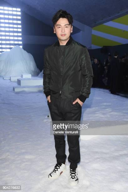 Jiayin Lei attends the Ermenegildo Zegna show during Milan Men's Fashion Week Fall/Winter 2018/19 on January 12 2018 in Milan Italy