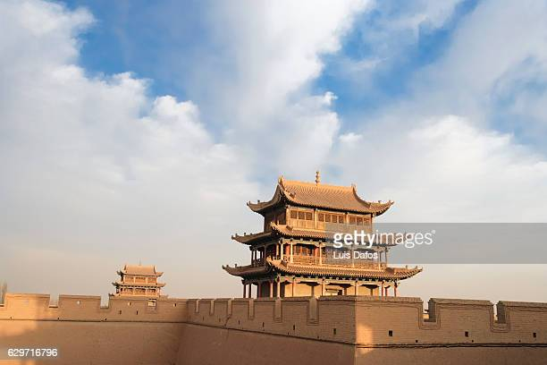 jiayuguan fort - gansu province stock pictures, royalty-free photos & images