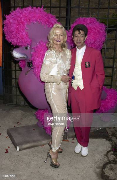 Jibby Beane and artist attend the opening night of the Fashion Museum in Bermondsey on May 9 2003 in London