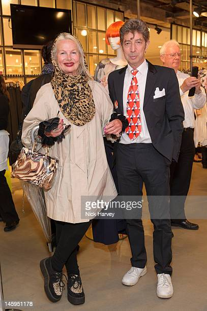 Jibby Beane and Duggie Fields attend the launch of Advanced Style hosted by Mary Portas and Ari Seth Cohen at Mary's Shop House of Fraser Oxford...