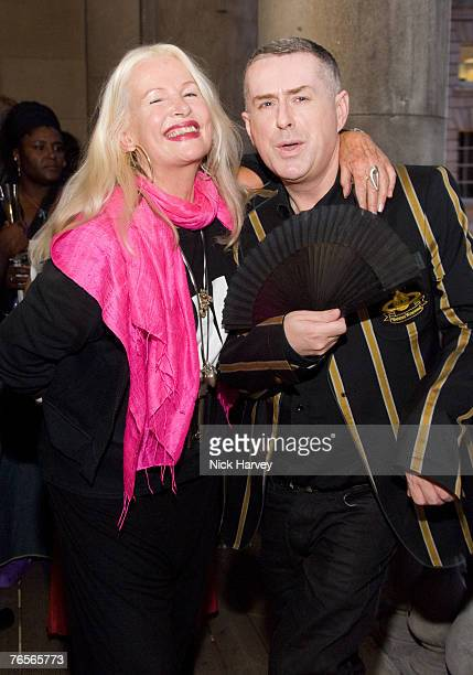 Jibby Beane and Holly Johnson at the launch of 'Superactive i2i Virtual Exhibition by Artists Ben Langlands Nikki Bell' on September 6 2007 in London...