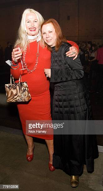 Jibby Beane and Jules Wright attend the party for the Veuve Cliquot celebratation of 130 years of its iconic colour 13th November 17 2007 in London...
