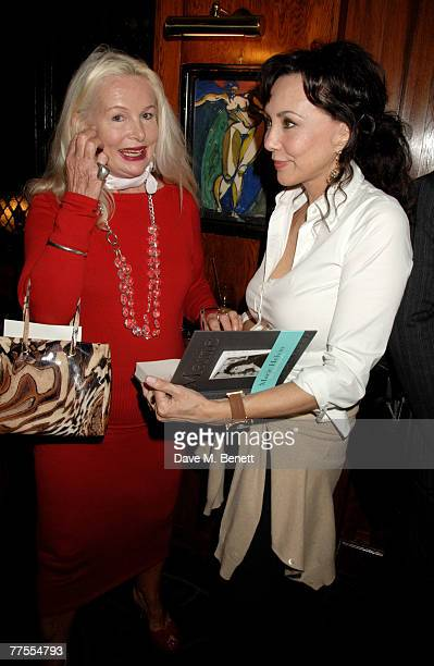 Jibby Beane and Marie Helvin attend the book launch party of Marie Helvin's new book at the Ivy on October 29 2007 in London England