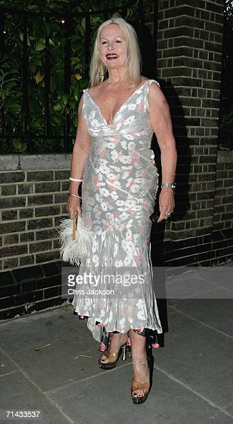 Jibby Beane arrives at Stephen Jones' Summer Hat Party on July 13 2006 in London England