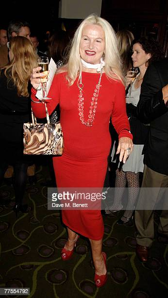 Jibby Beane attends the book launch party of Marie Helvin's new book at the Ivy on October 29 2007 in London England