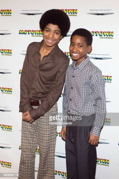 Jibreel Mawry and Raymond Luke Jr attend Motown The Musical Press Preview at The New 42nd Street Studios on February 7 2013 in New York City