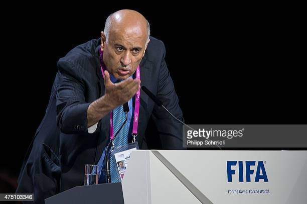 Jibril Al Rajoub gives a speech during the 65th FIFA Congress at Hallenstadion on May 29 2015 in Zurich Switzerland