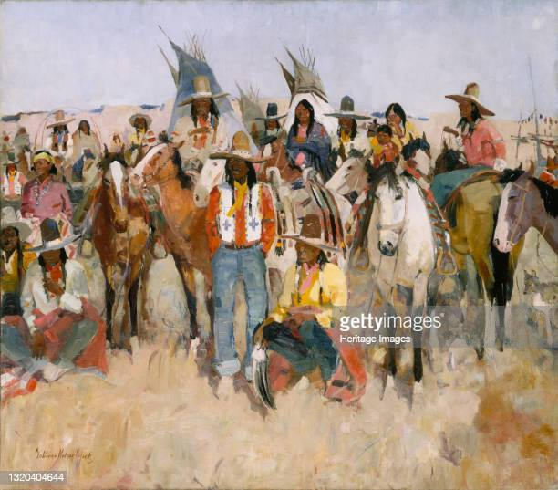 Jicarilla Apache Fiesta, 1934. Artist LaVerne Nelson Black.