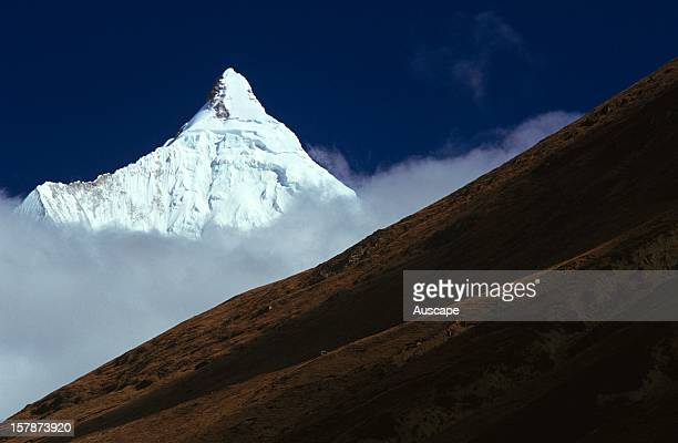 Jichu Drake 6989 m though its height is sometimes given as 6662 m 6714 m 6789 m or 6970 Paro district Bhutan