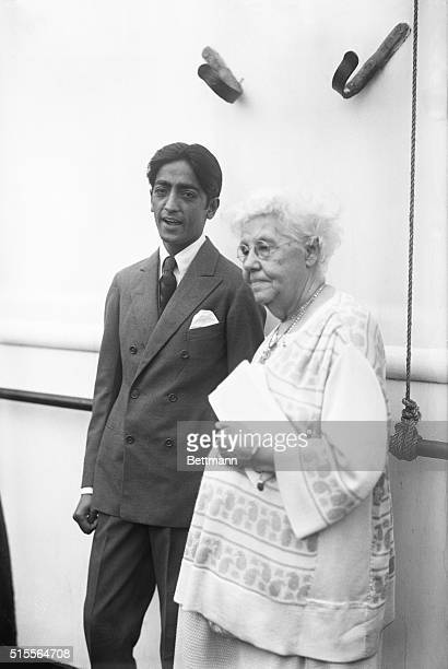 Jiddu Krishnamurti and Miss Anna Besant his supporter