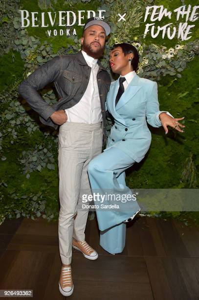 Jidenna and Janelle Monae attend as Janelle Monae and Belvedere Vodka kickoff 'A Beautiful Future' Campaign with Fem the Future Brunch at Catch LA on...
