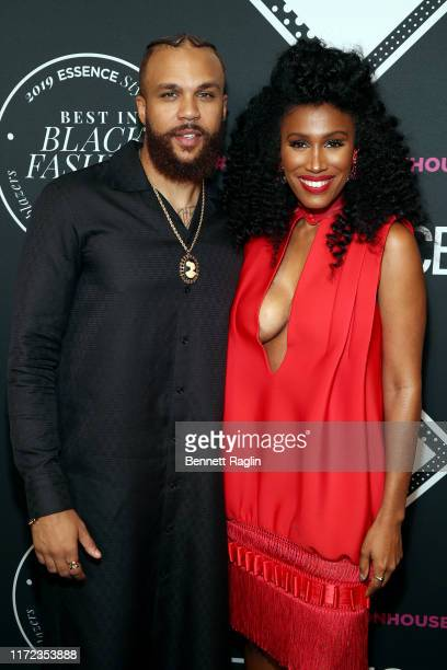Jidenna and Moana Luu attend the ESSENCE Best In Black Fashion Awards at Affirmation Arts on September 04 2019 in New York City