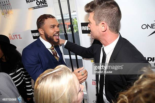 Jidenna and Robin Thicke at Stage 48 on August 11 2015 in New York City