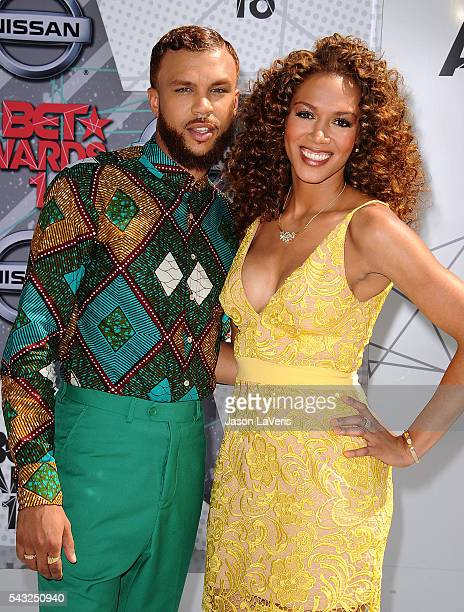 Jidenna and Rosalyn GoldOnwude attend the 2016 BET Awards at Microsoft Theater on June 26 2016 in Los Angeles California