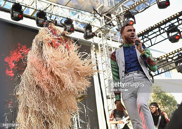 Jidenna performs onstage at EpicFest 2016 hosted by LA Reid and Epic Records at Sony Studios on June 25 2016 in Los Angeles California