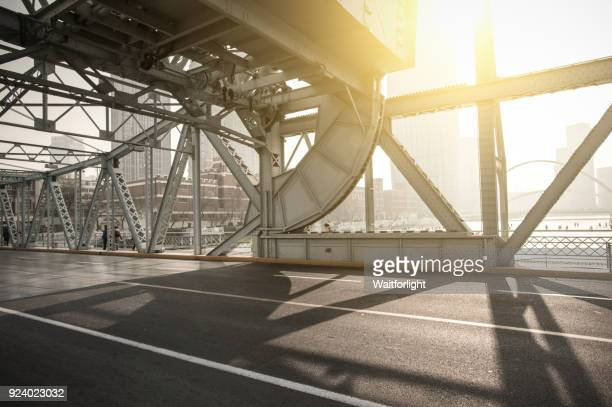 jiefang bridge road scenery in tianjin,china. - tianjin stock pictures, royalty-free photos & images