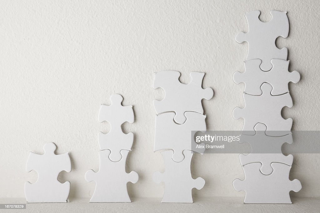 Jigsaw Chart : Stock Photo