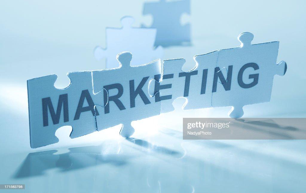 Jigsaw Puzzle - Marketing : Stock Photo
