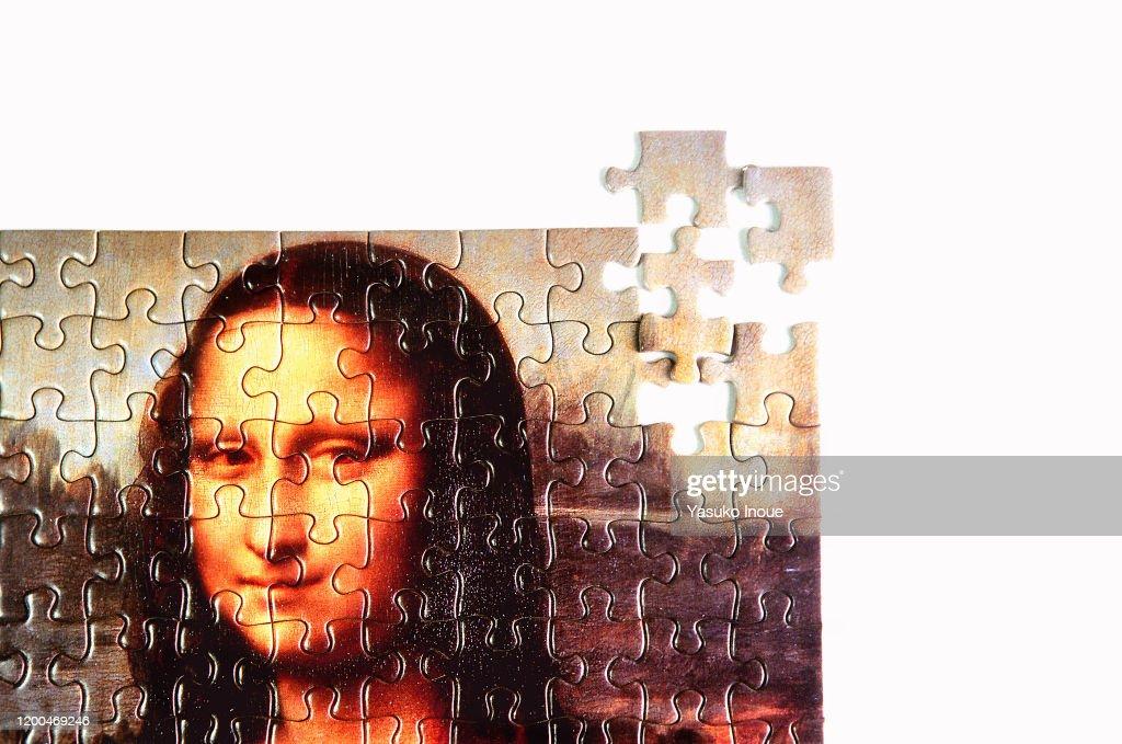 Jigsaw Puzzle of Mona Lisa : Stock Photo