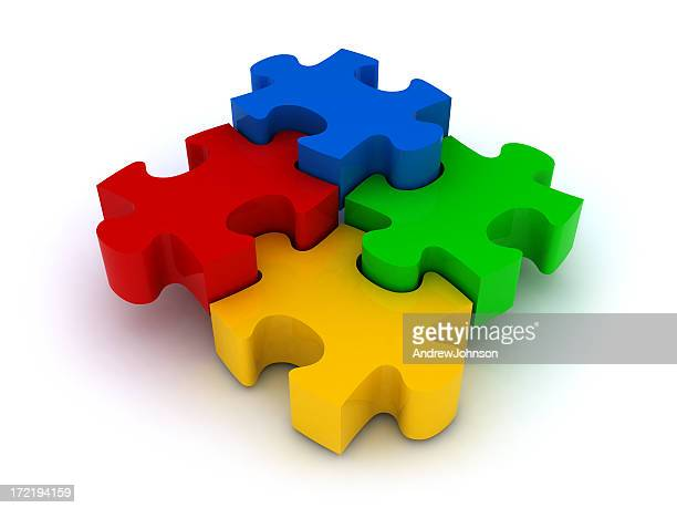 jigsaw puzzle - jigsaw piece stock pictures, royalty-free photos & images
