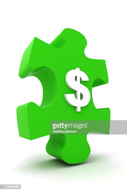 jigsaw puzzle - dollar sign key stock photos and pictures