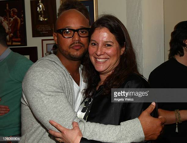 Jihaad Shaw of Rebel Industries and Jennifer Gross of Evolutionary Media Group PR attend the Friends N Family Dinner at The Jack Warner Estate on...