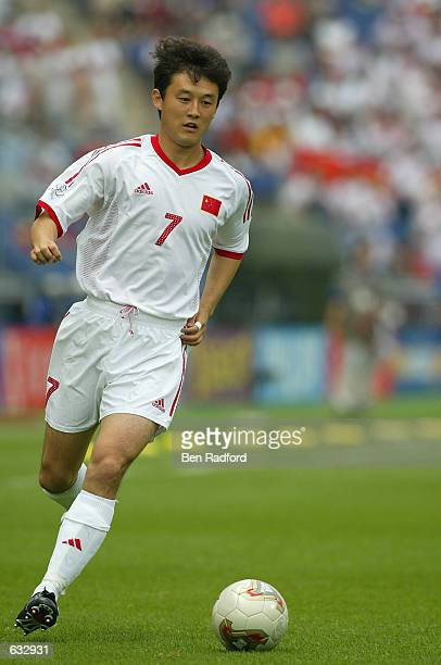 Jihai Sun of China in action during the first half during the China v Costa Rica, Group C, World Cup Group Stage match played at the Gwangju World...