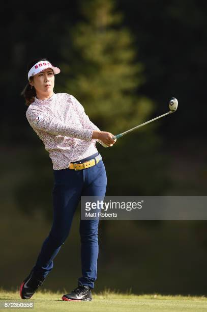 JiHee Lee of South Korea hits her tee shot on the 2nd hole during the first round of the Itoen Ladies Golf Tournament 2017 at the Great Island Club...