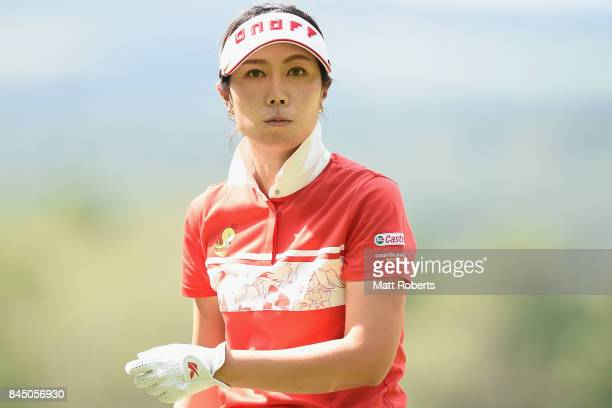 JiHee Lee of South Korea looks on during the third round of the 50th LPGA Championship Konica Minolta Cup 2017 at the Appi Kogen Golf Club on...