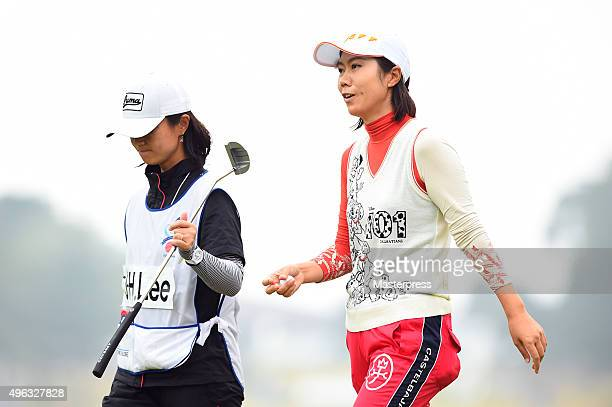 JiHee Lee of South Korea looks on during the third round of the TOTO Japan Classics 2015 at the Kintetsu Kashikojima Country Club on November 8 2015...