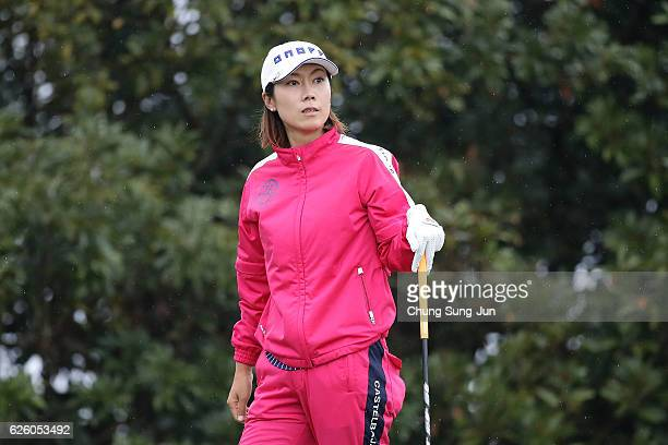 JiHee Lee of South Korea on the 3rd hole during the final round of the LPGA Tour Championship Ricoh Cup 2016 at the Miyazaki Country Club on November...